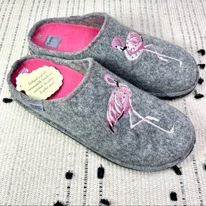 TOFEE Flamingo Grey Boiled Wool Polish Slippers 9